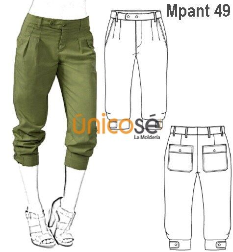 Moldes Unicose Pantalones Capri Pantalones Camuflados Mujer Pantalones