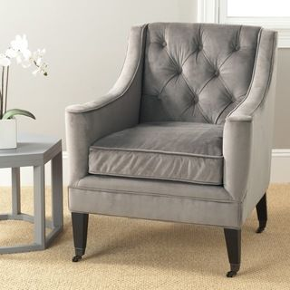 Awesome Sherman Mushroom Taupe Cotton Fabric Arm Chair | Overstock.com Shopping    Great Deals On Safavieh Living Room Chairs