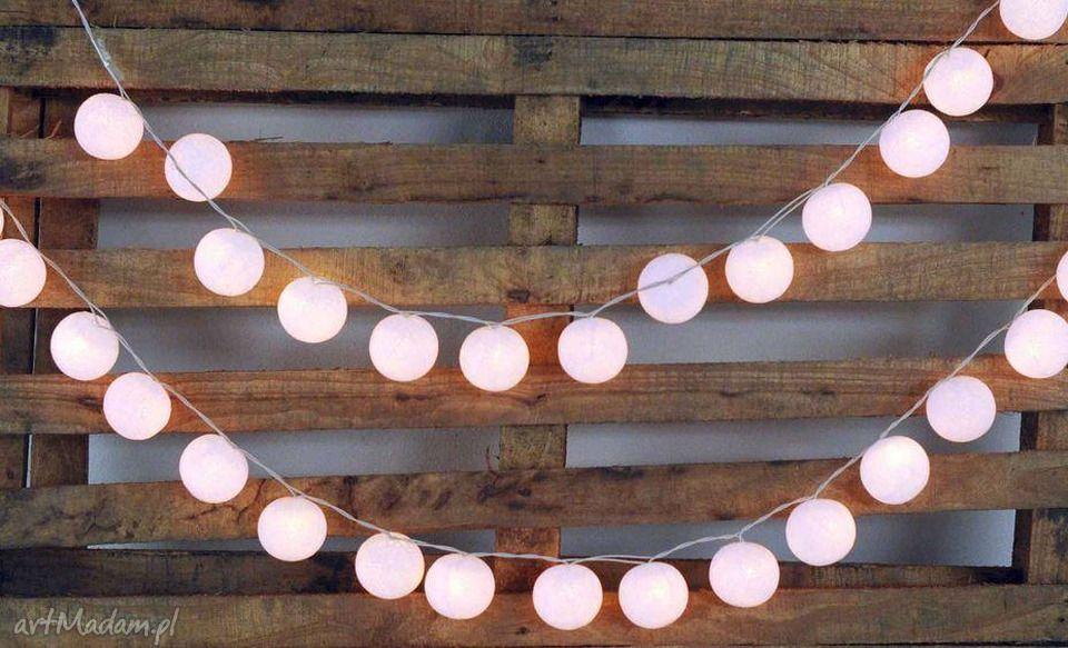 Qule Lampki Cotton Balls Light śnieżnobiałe 20 Qul Home
