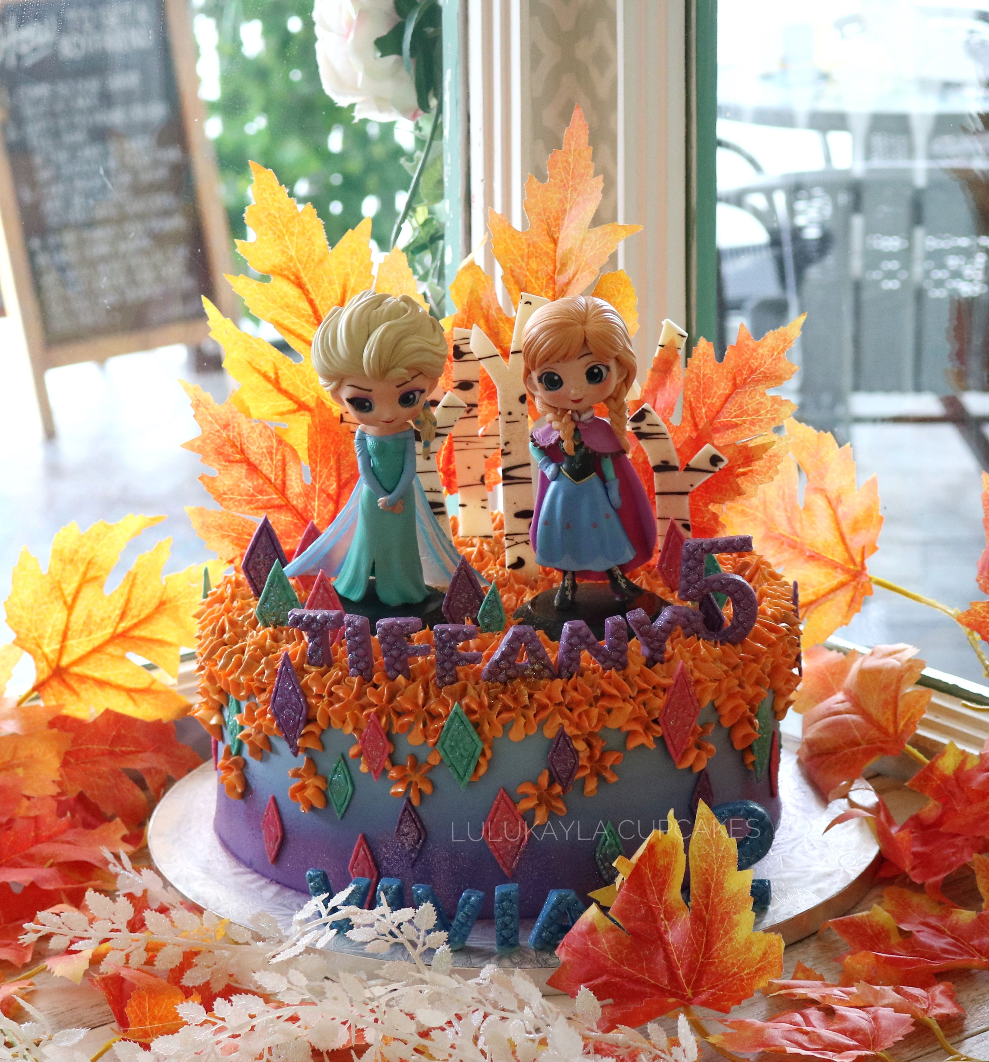 Pin By Lulu Kayla On Buttercream Cake Frozen Party Decorations