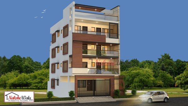 Front Elevation Of Small Residential House : Multi storey residential buildings d front elevation