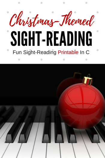 A Christmas SightReading Expansion Pack Piano teaching
