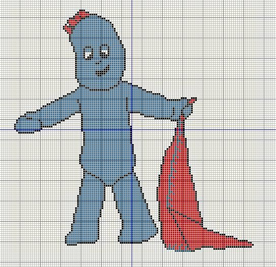 Buzy Bobbins Iggle Piggle In The Night Gardren Cross Stitch D