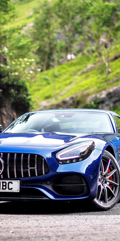 1440x2880 Mercedes Amg Gt S Roadster Blue Car 2019 Wallpaper Mercedes Amg Gt S Mercedes Amg Blue Car