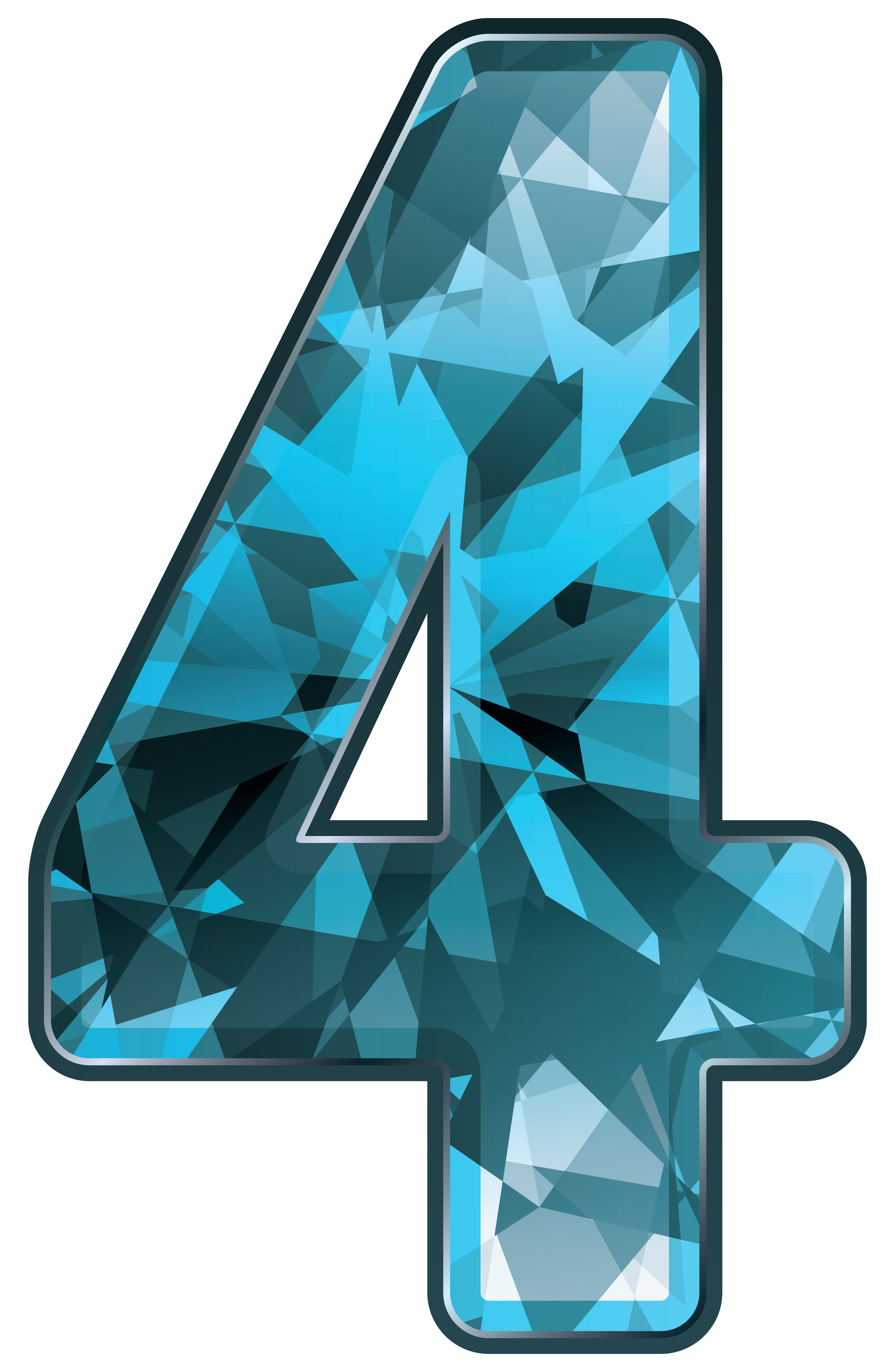 Blue Crystal Number Four Png Clipart Image Gallery Yopriceville High Quality Images And Transparent Png Free Clipart Clip Art Blue Crystals Free Clip Art