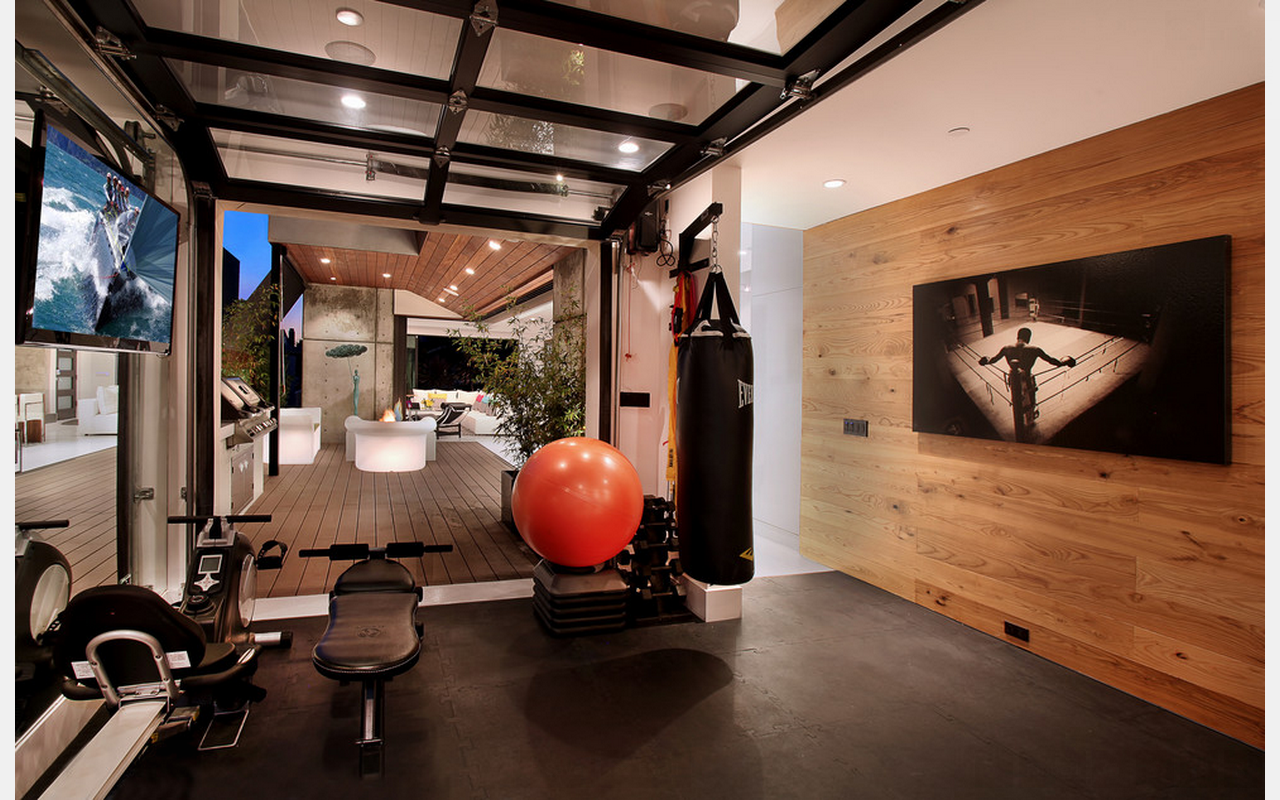 The Layout And Garage Style Door In 2020 Home Gym Decor Home Gym Design Gym Room At Home