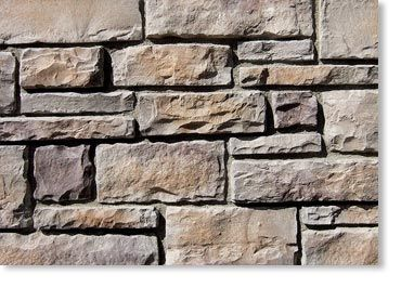 Exterior Stone Country Rubble Manufactured Stone Grey