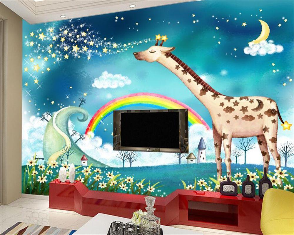 Behang Kinderkamer Regenboog : Goedkope beibehang behang voor muren 3 d moderne 3d behang