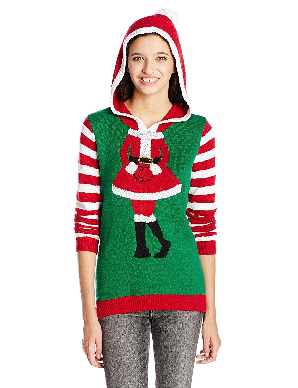 c39645fc8ea Ugly Christmas Sweater Juniors Mrs. Claus Hoodie Pullover Hoodie ...