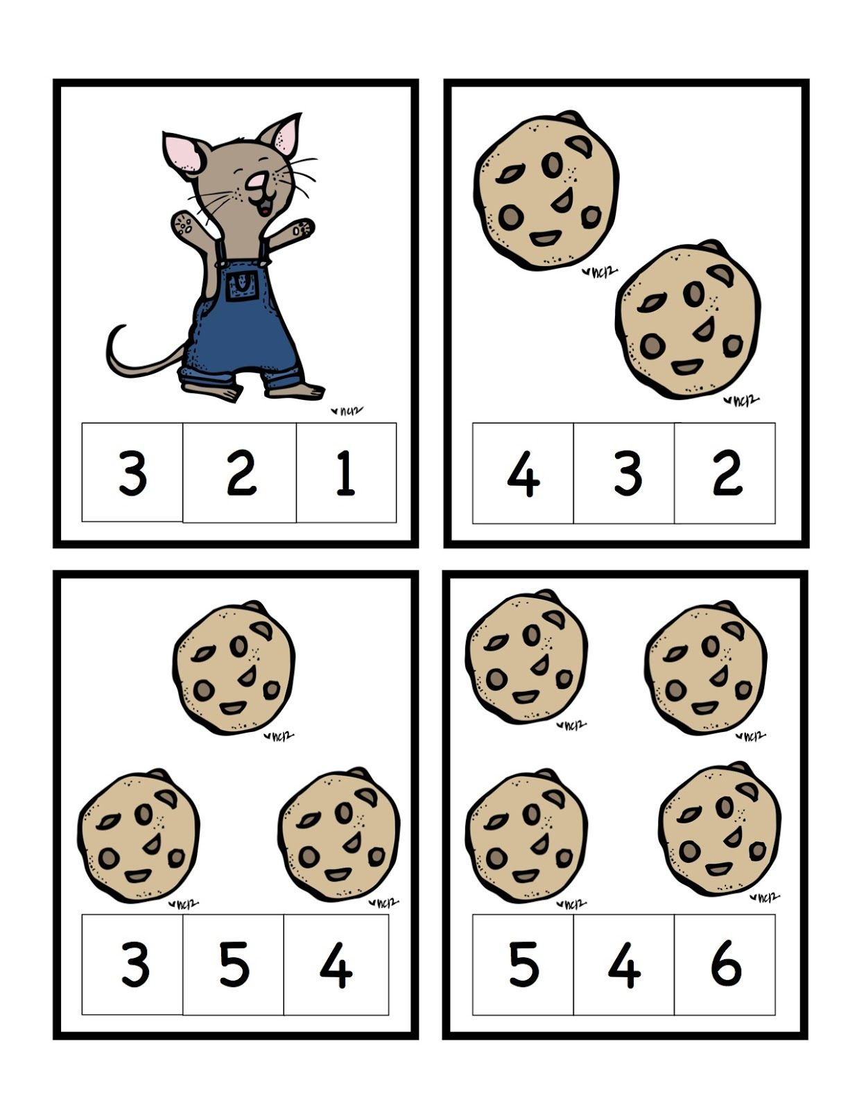 Preschool Printables If You Give A Mouse A Cookie Math