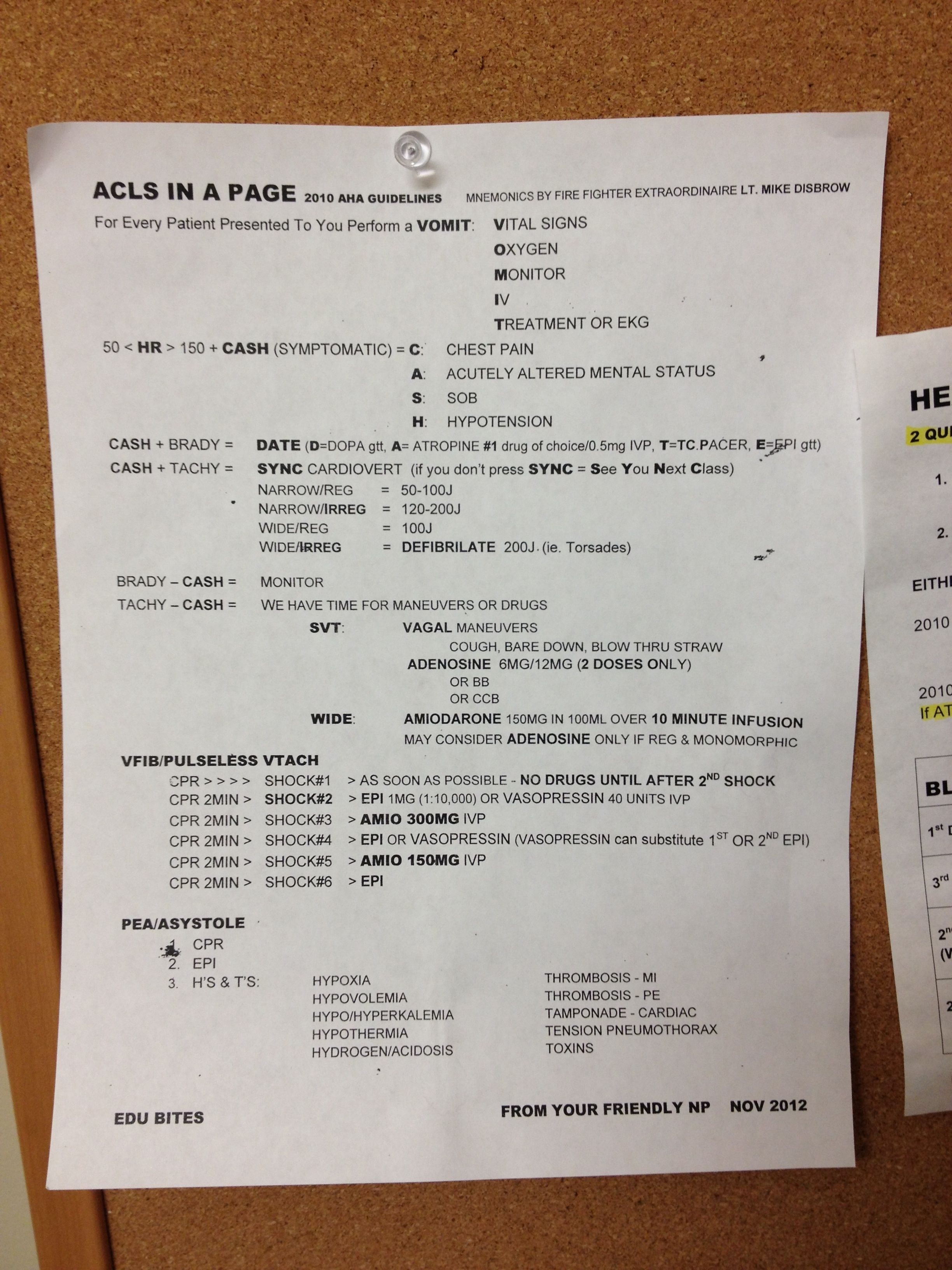 Acls Page Where Have You Been During All My Codes
