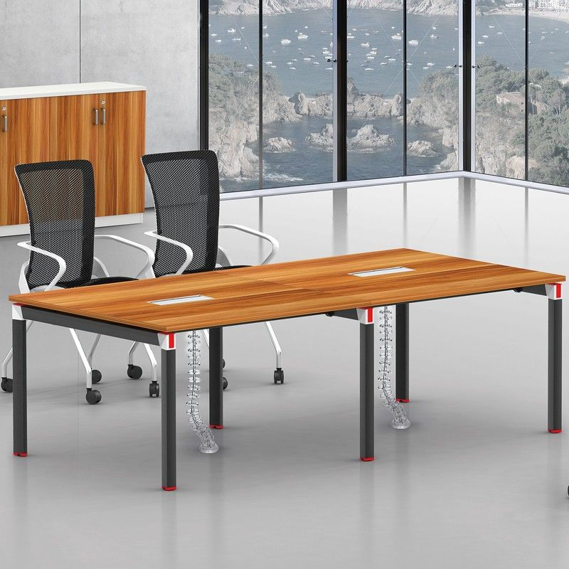 Latest Design Sectional Meeting Table Metal Legs Melamine