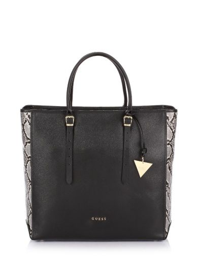 8542273bfa Lady Luxe Python Print Modern Tote Bag | GUESS | Bags | Bags, Python ...