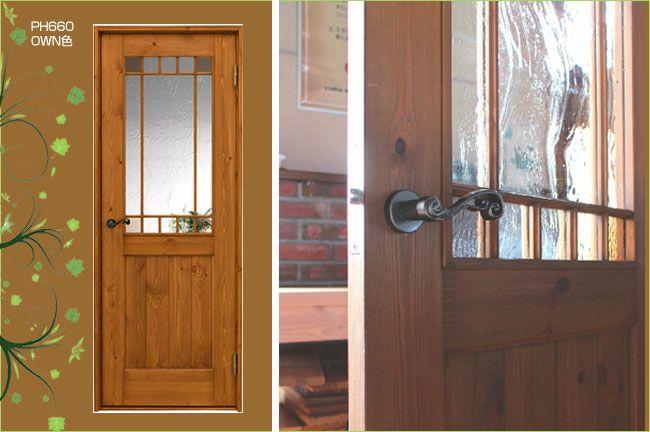 カフェ風のインテリアにマッチするアンティーク調の室内ドア ガラスが