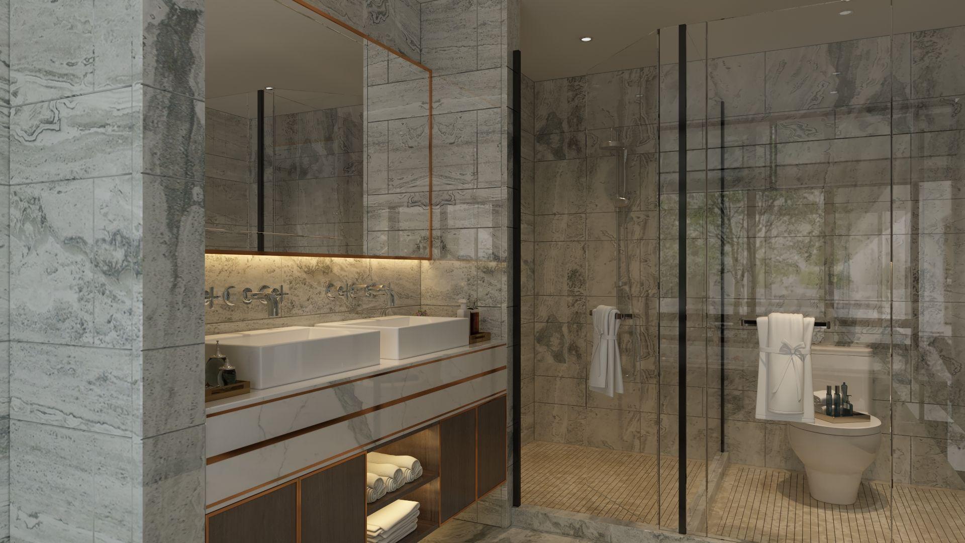مغاسل ستتواريو Marble Bathtub Bathroom
