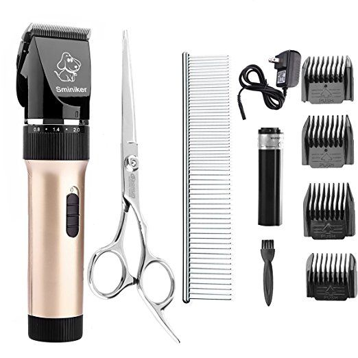 Sminiker Professional Low Noise Rechargeable Cordless Cat And Dog Clippers Professional Pet Clippers Dog Grooming Clippers Dog Clippers Dog Grooming Supplies
