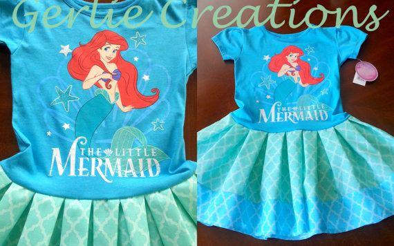 Ariel Dress Girls Dress Ariel My Little Mermaid by GerlieCreations