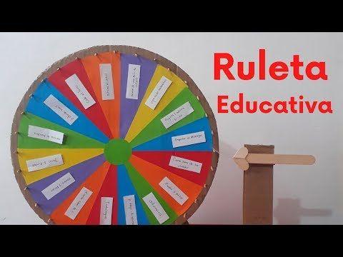 como hacer una ruleta didactica paso a paso