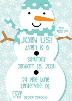 snowman invitations