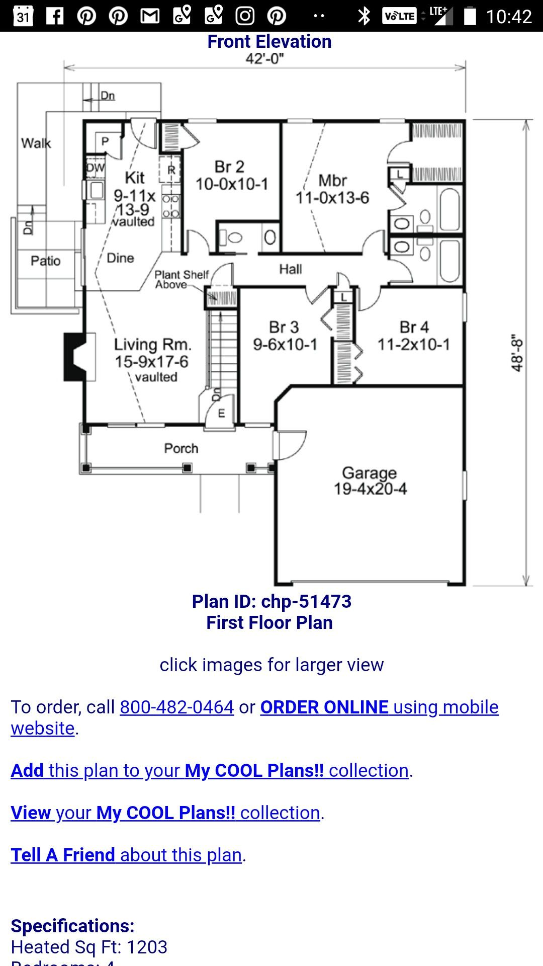 4 Bed 2 5 Bath 1200sq F House Plan Plant Shelves How To Plan House Plans
