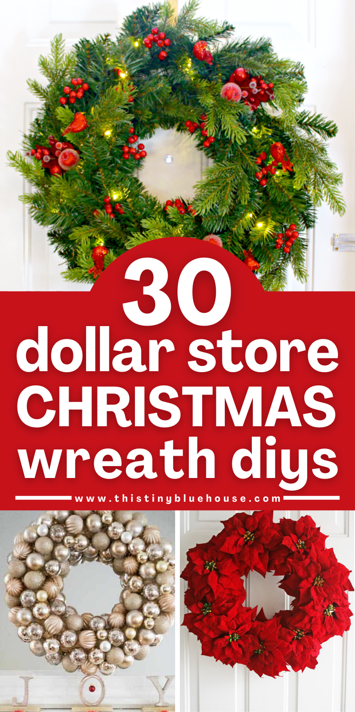 30 Gorgeous Diy Dollar Store Christmas Wreath Ideas Diy Christmas Decorations Dollar Store Dollar Store Christmas Decorations Christmas Wreaths
