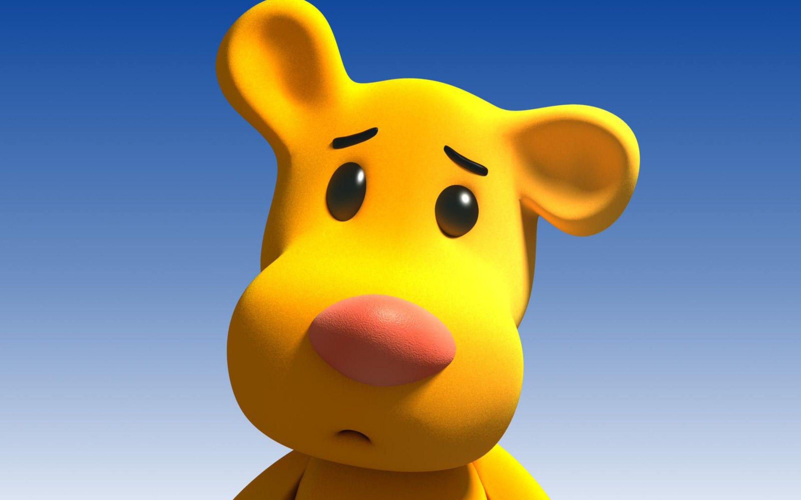 Cartoon Character Funny Yellow Animal Cartoons For Kids Hd Wallpaper Downlo Fondo De Pantalla De Dibujos Animados Fondo De Pantalla Oso Historieta Graciosa