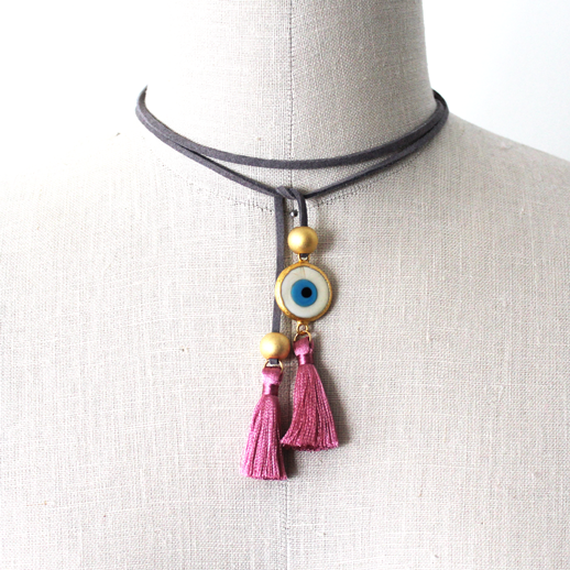 "Our Latest Creation ""Suede Evil Eye Choker"" Is A Trendy"