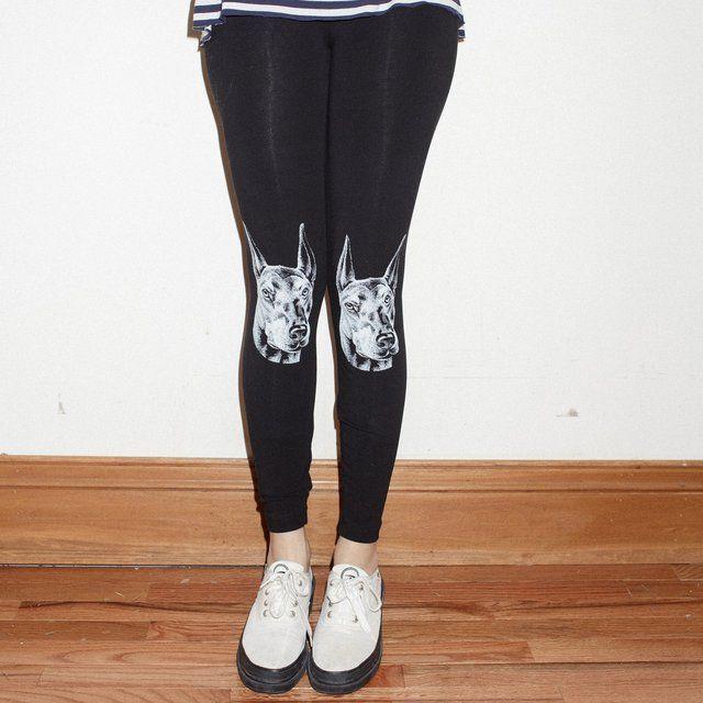 Dobermann leggings by wowch