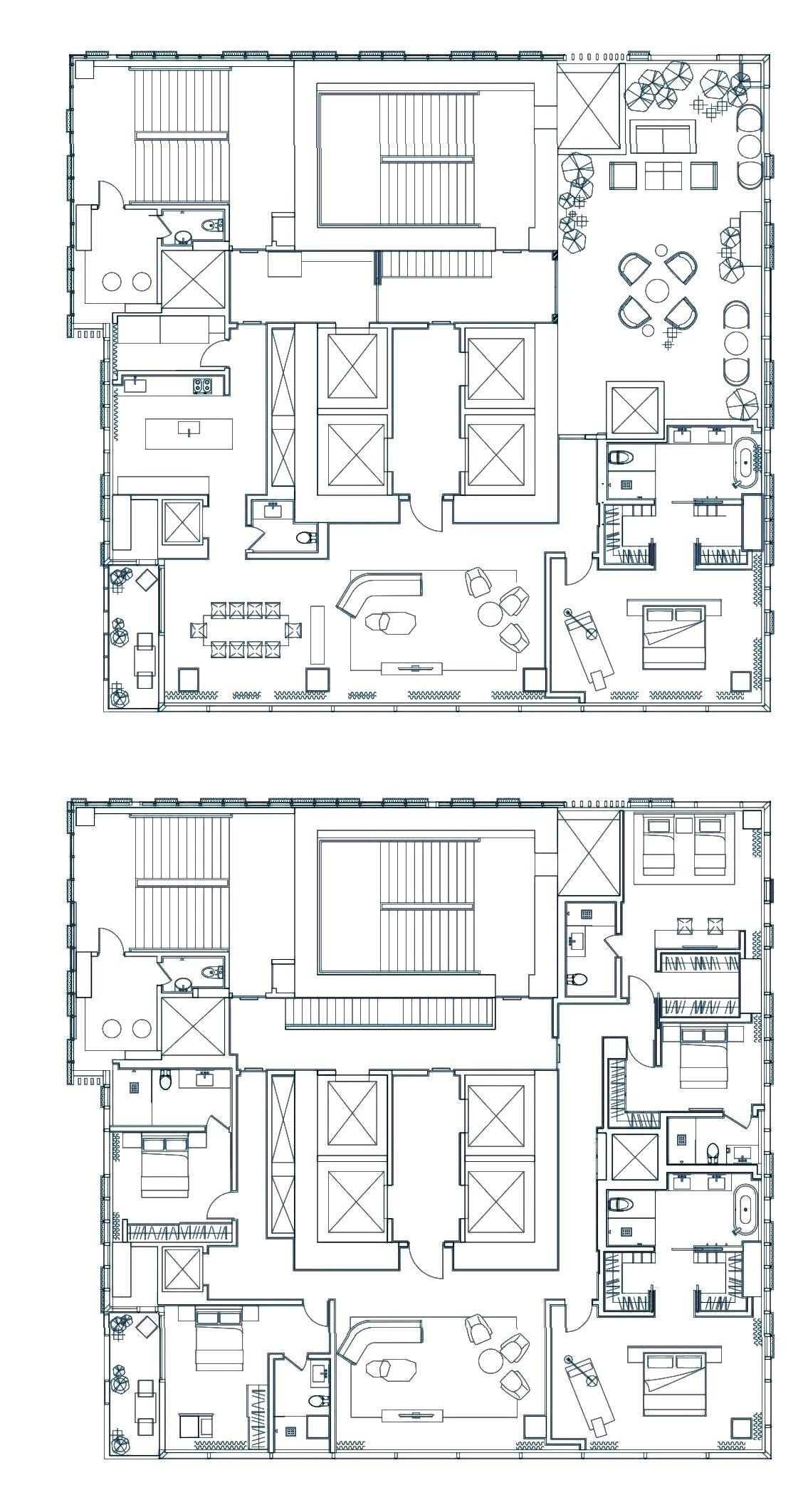 Four Seasons Private Residences Mumbai Garden Duplex 6 000 Sqft Townhouse Apartments Floor Plans Plan Design