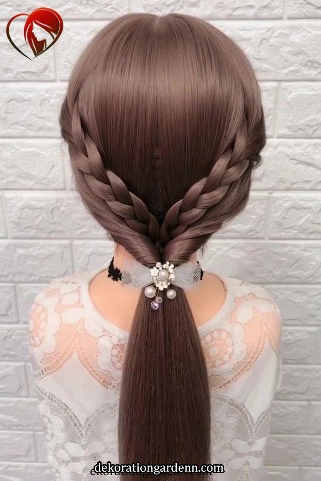Frisur Frisur Hair Styles Long Hair Styles Hair Tutorial