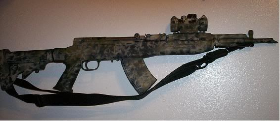Who has threaded muzzle devices on your SKS? please show them