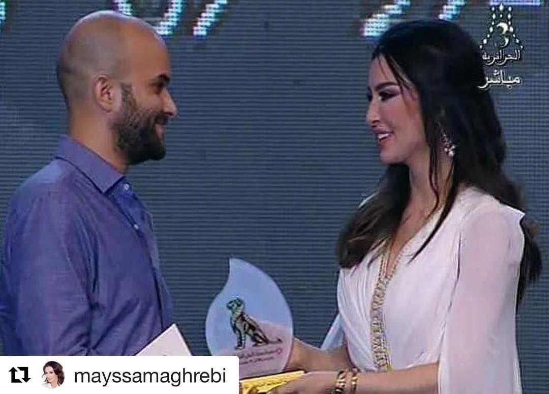 Repost Mayssamaghrebi With Repostapp لحظة تسليم جائزة التحكيم الخاصة للفيلم الجزائري الرائع قنديل البحر الف مبروك Moroccan Caftan Caftan Instagram Posts