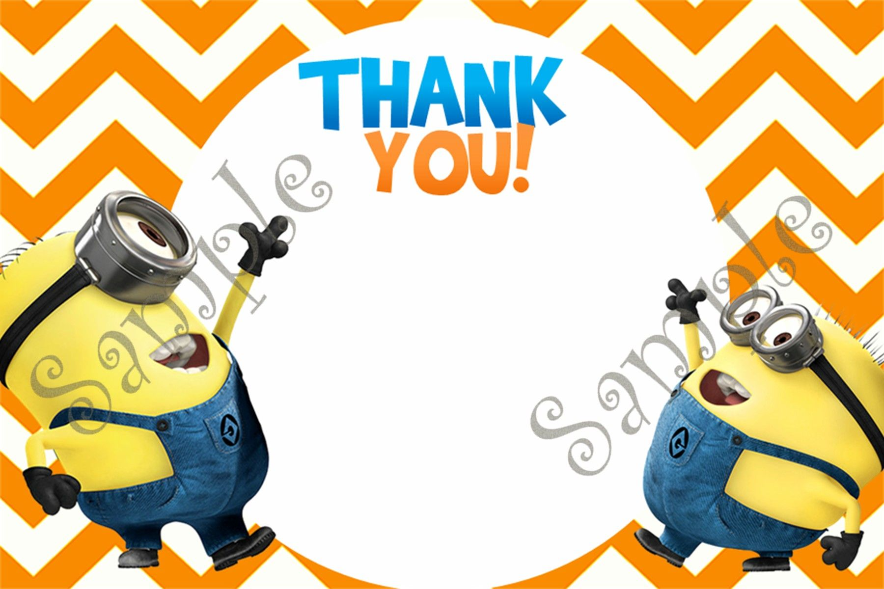 Minion - Despicable Me Birthday Invitation and Thank you card ...
