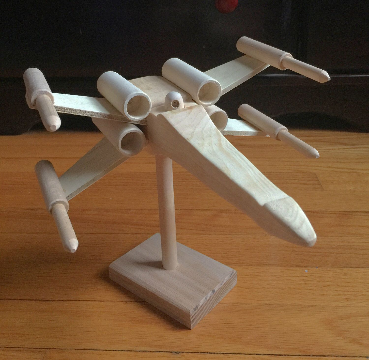 Wooden Toy X Wing Wooden Star Wars Handmade Wood Xwing Star