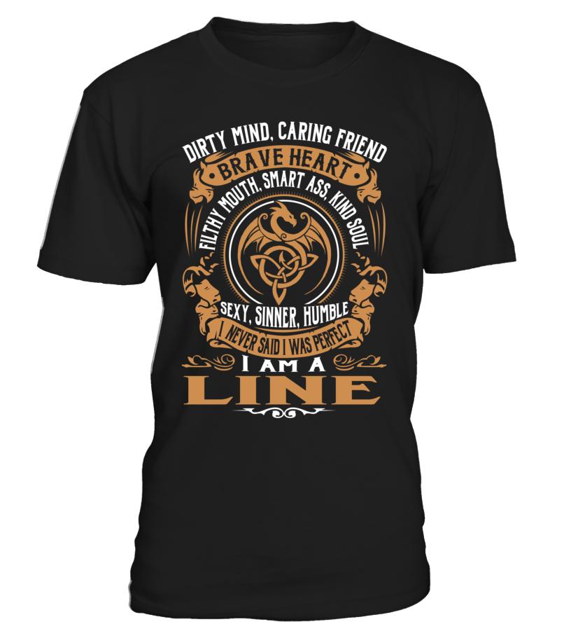 LINE Brave Heart Last Name T-Shirt #Line