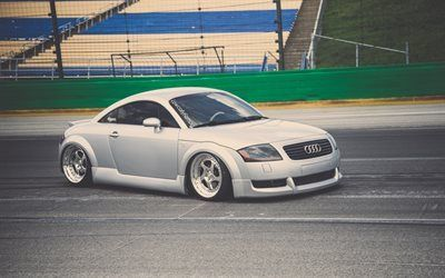 Download Wallpapers Audi Tt Stance Supercars Tuning