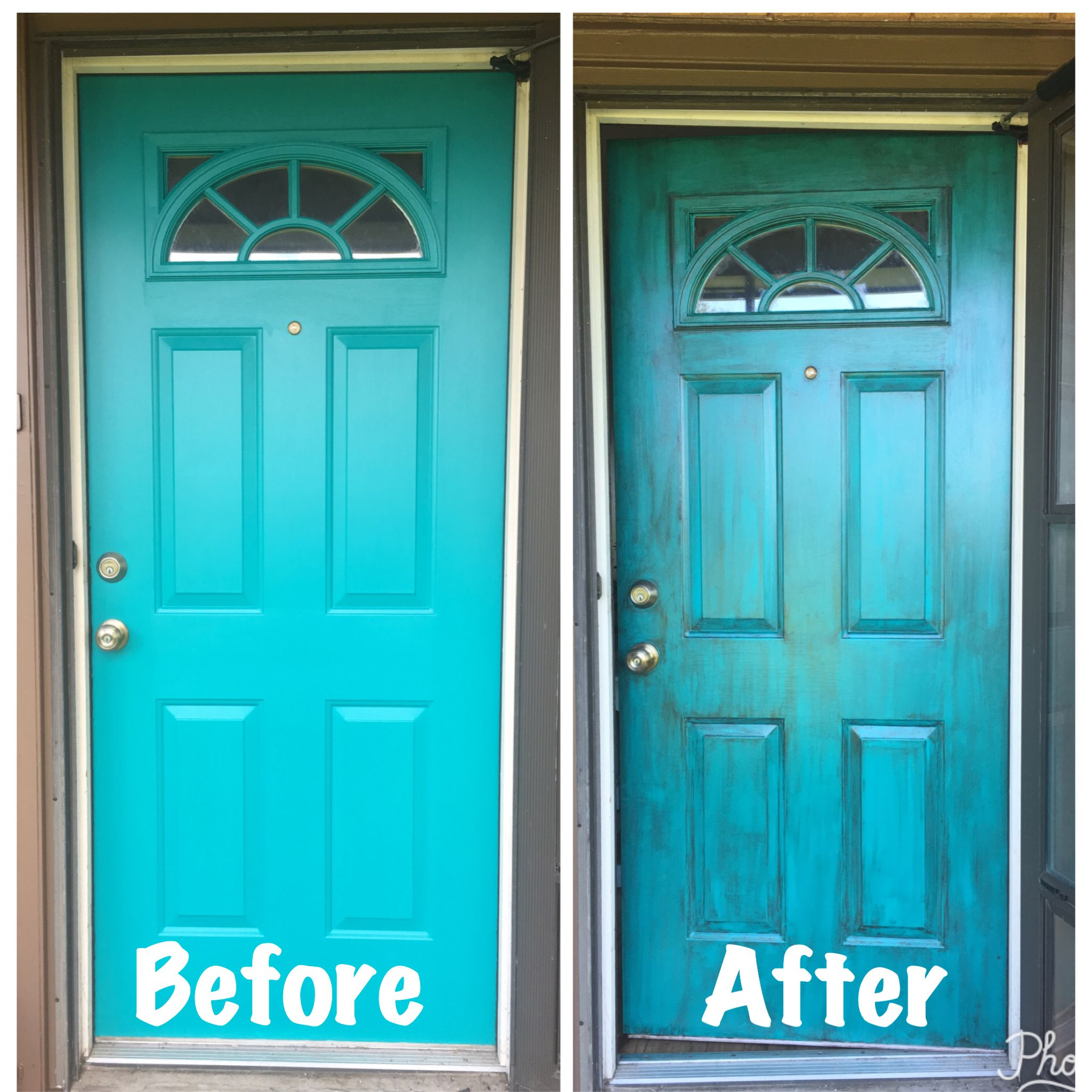 Sherwin Williams Worn Turquoise: Rustic Metal Front Door. Nifty Turquoise By Sherwin