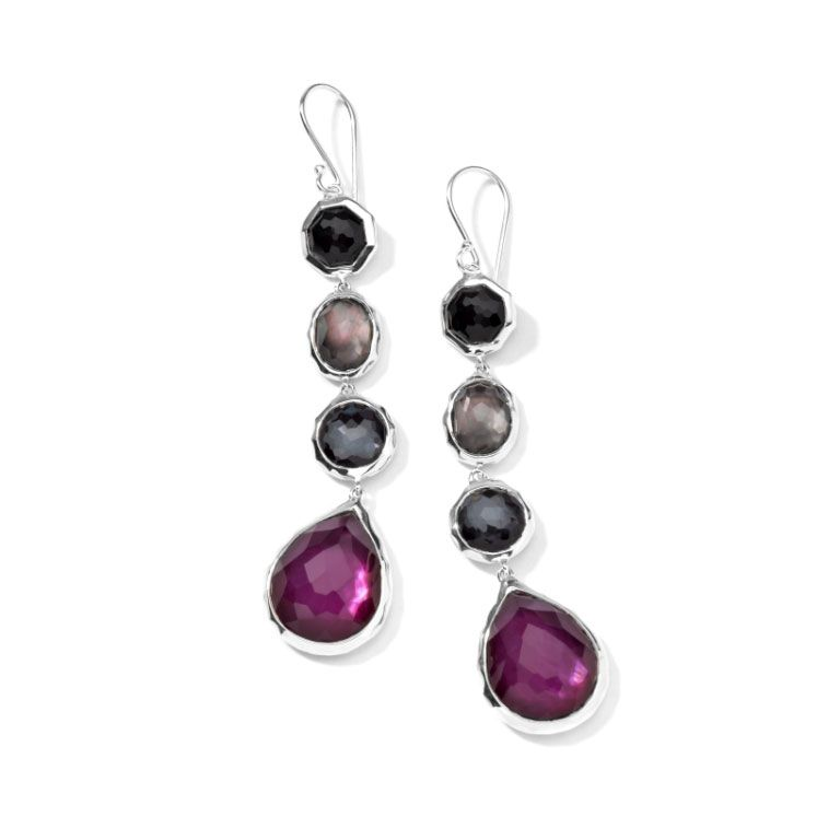 Ippolita Wonderland Four Stone Drop Earrings in Barolo