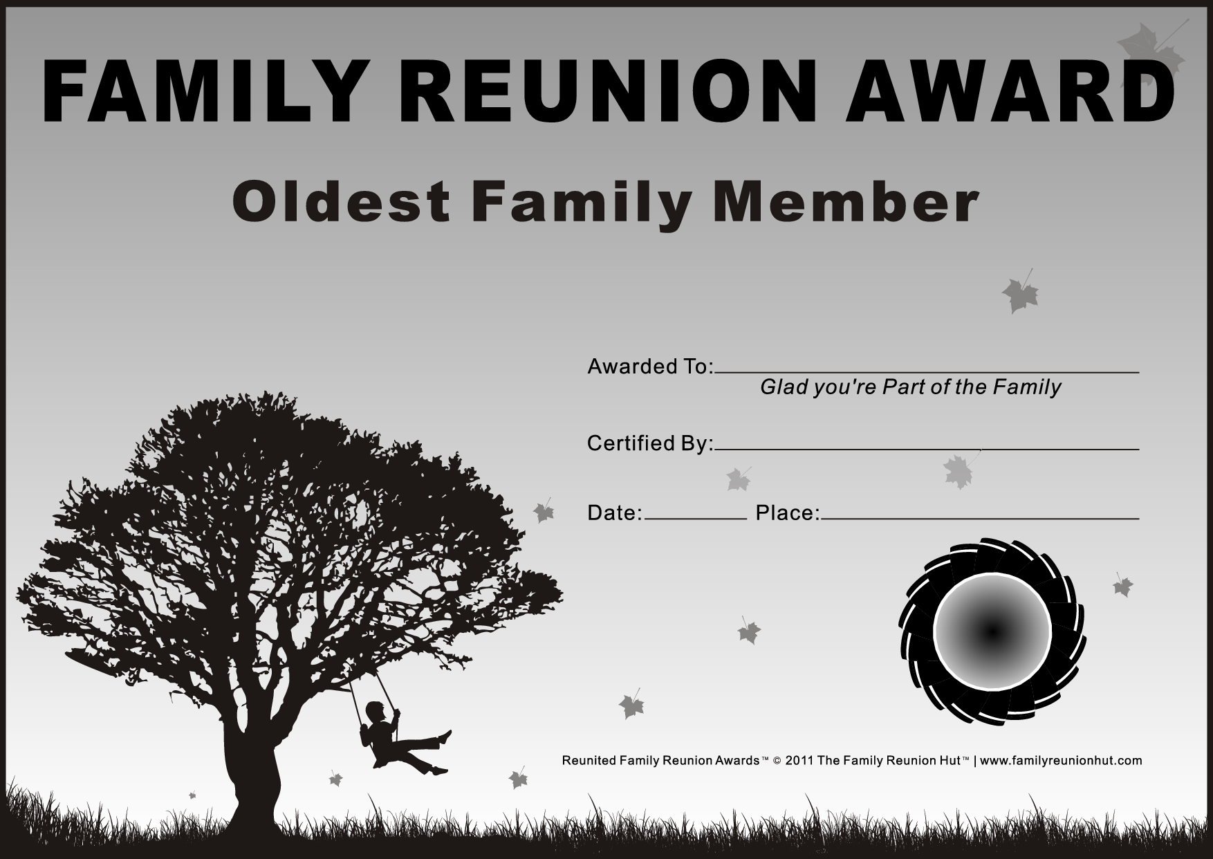 Irresistible image in free printable family reunion certificates