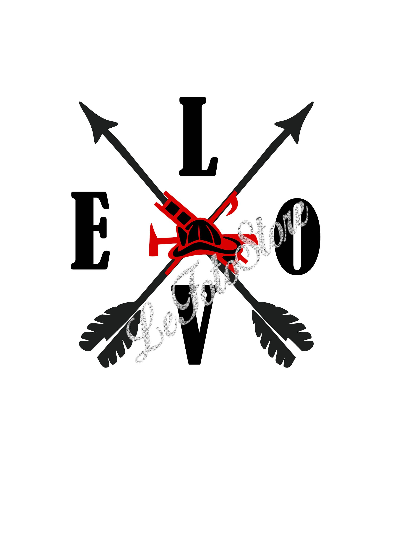 Download Love firefighter svg, Valentines Day SVG, Love Arrows SVG ...
