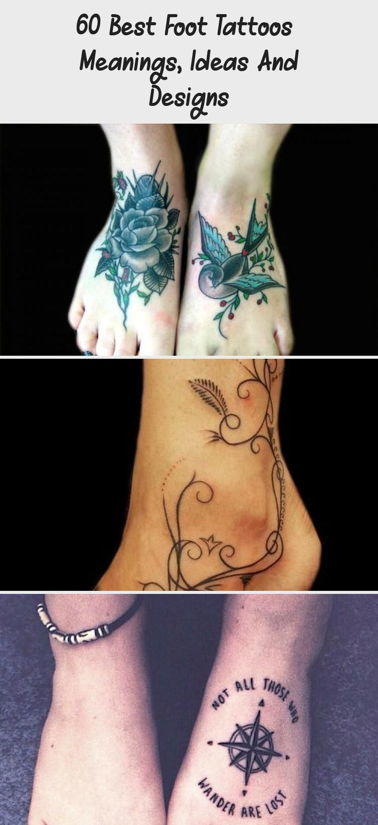 Foot tattoo meanings, symbolism, designs and ideas with