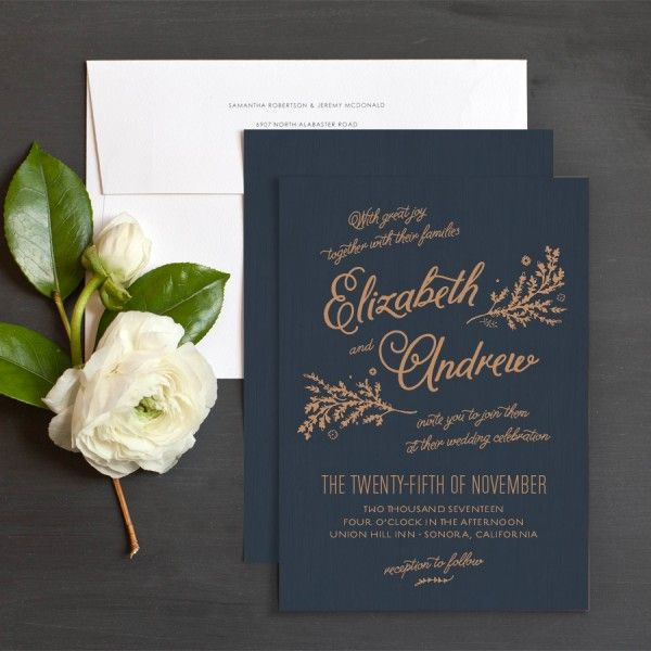 Rustic Chic Wedding Invitations By Emily Crawford At Elli