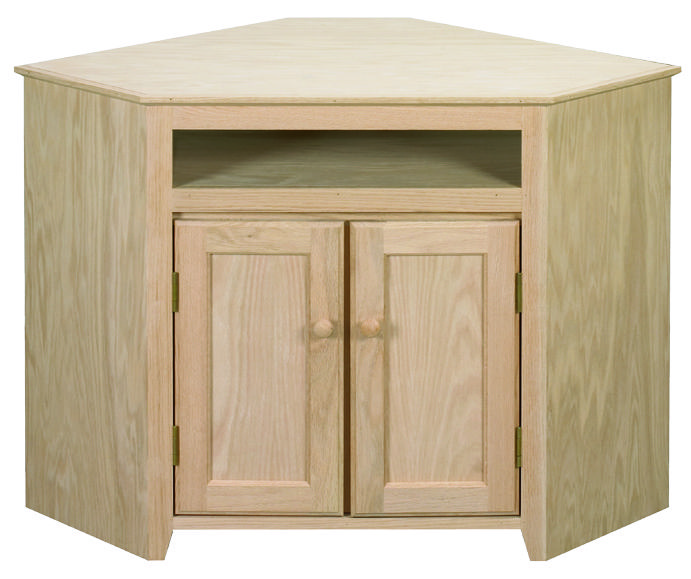 Unfinished Corner Cabinet   Solid #oak And #maple   Customize With Your  Finish And