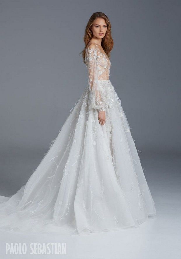 Paolo sebastian winter wedding dresses looks pinterest we chose the most breathtaking winter wedding dresses for 2016 brides from amazing designers like maria senvo halfpenny london inbal dror and more junglespirit Images