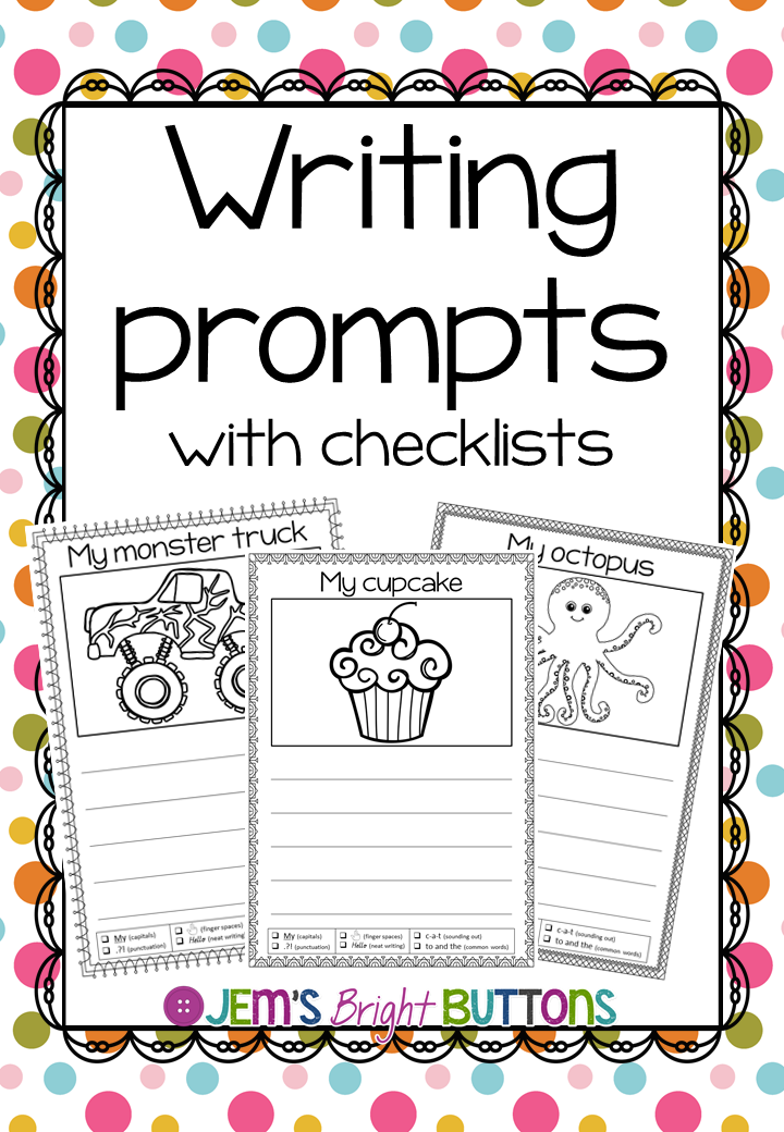 Writing prompts with checklist - worksheets - NO PREP | Writing ...