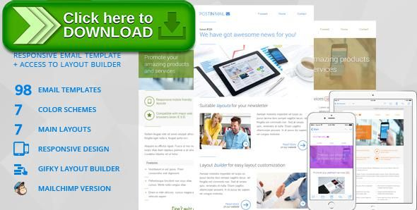 Free nulled Postin Mail - Responsive Email Template + Access to - marketing email template