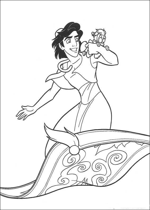 Aladdin Kleurplaten 25 Libro Colorear Aladdin Pinterest