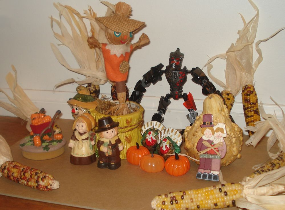 Happy Thanksgiving from Norshin Blast, a Lego Hero Factory robot!