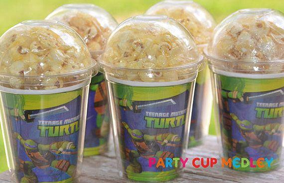 TMNT Birthday Party Cups-Popcorn Box-Set of 8 on Etsy, $12.40