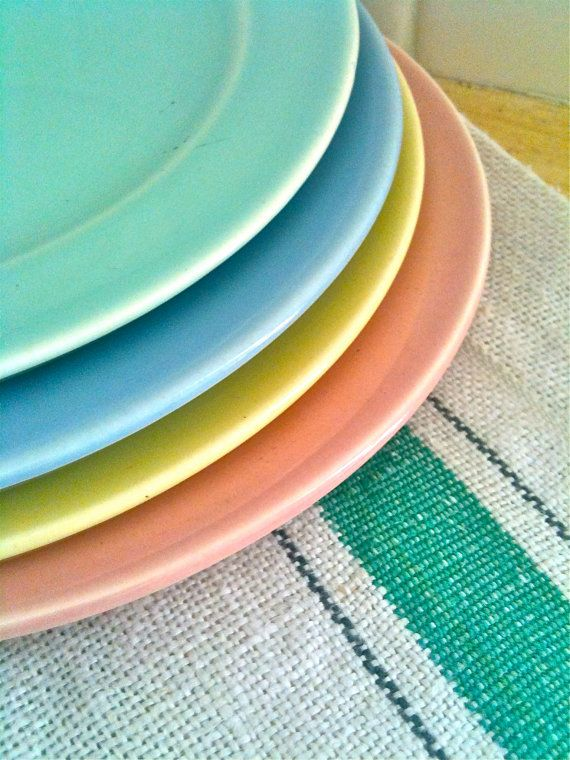 Vintage LuRay Pastel Bread And Butter Plates by sweetladyjune $22.00 SOLD & Vintage LuRay Pastel Bread And Butter Plates Great Grandma Eleanor ...